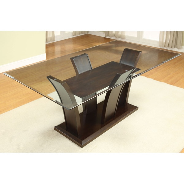 Furniture Of America Marion Contemporary 7 Piece Glass Top Dining Set    Free Shipping Today   Overstock.com   17983642