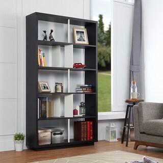 Furniture Of America Balto Modern Black And White Open Bookshelf/ Room  Divider