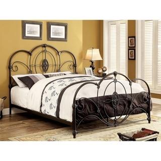 Furniture of America Lviv Victorian Metal Scrolled Arched Bed Frame