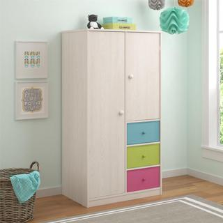 Altra Applegate Enchanted Pine Armoire with Fabric Bins by Cosco