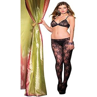 Women's Floral Crotchless Bodystocking