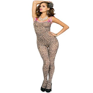 Women's Leopard Print Bodystocking