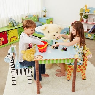 Fantasy Fields Sunny Safari Table and Chairs (Set of 2)