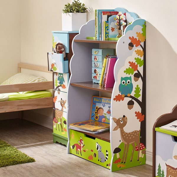 Fantasy fields enchanted woodland bookshelf free for Bookcases for kids room