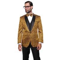 Statement Men's Wool Bellagio Gold 3-piece Tuxedo Suit