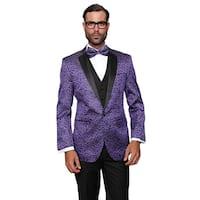 Statement Men's Wool Bellagio Purple 3-piece Tuxedo Suit