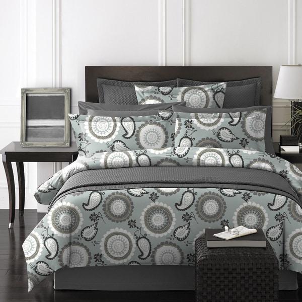 Lauren Taylor Adnan Grey Medallion 6-piece Comforter Set