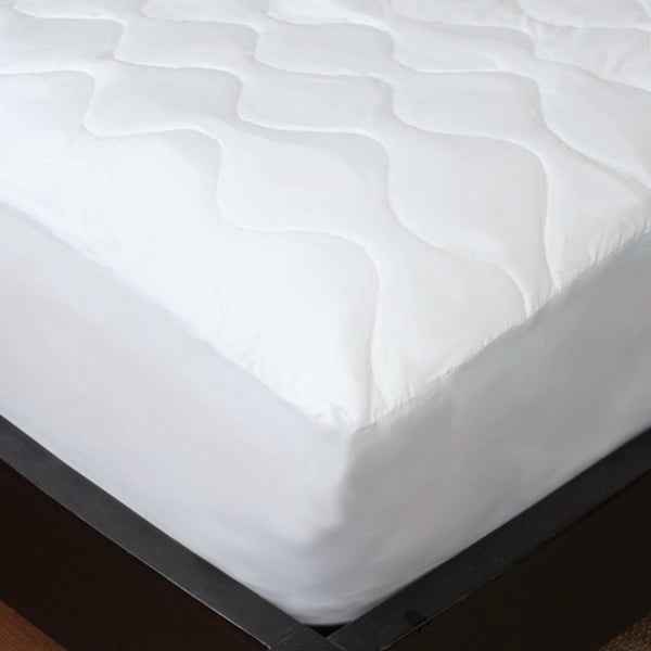 Studio 707 - Soft Cotton Feel Quilted Mattress Pad - White