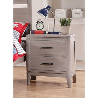 Donco Kids 2-Drawer Weathered Grey Distressed Finish Nightstand