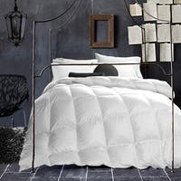 White Wool-filled 200 Thread Count Cotton Comforter