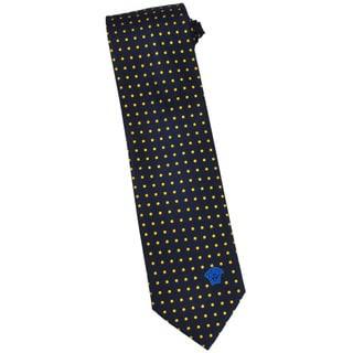 Versace 100-percent Italian Silk Black Dot 3-inch Wide Neck Tie