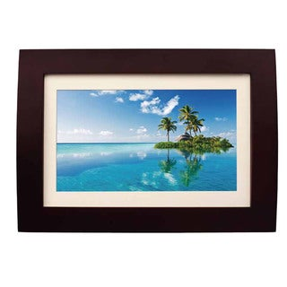 sylvania sdpf1089 10 inch wood finished led digital photo frame