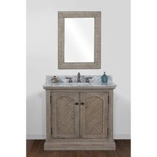 Link to Rustic Style 36-inch Natural Stone Top Single Sink Bathroom Vanity Similar Items in Bathroom Vanities