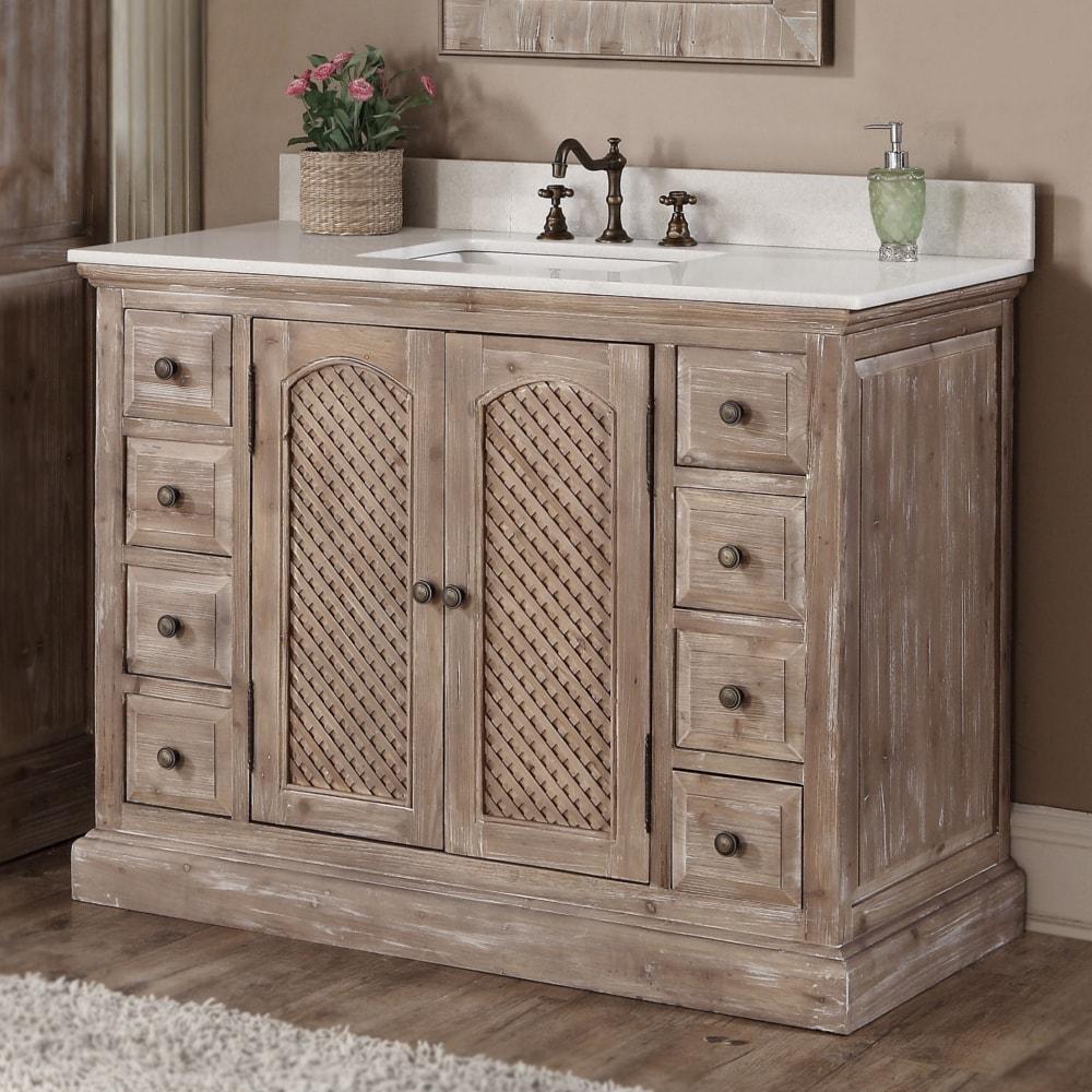 Rustic Style 48 Inch Single Sink Bathroom Vanity Overstock 10958889