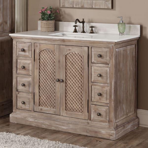 Shop Rustic Style 48 Inch Single Sink Bathroom Vanity Free