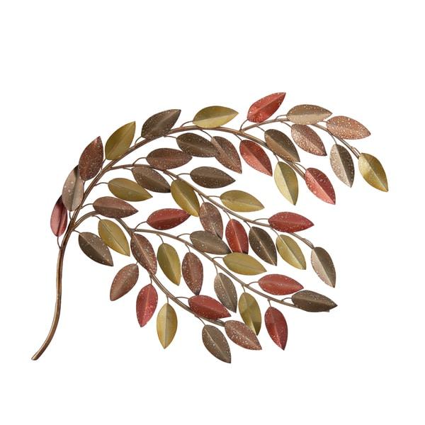 Elements 34 x 23.5 inch Fall Leaf Branch Wall Decor - Free Shipping ...