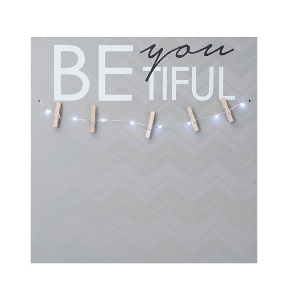 Melannco 'Be-You-Tiful Photo Clip Board