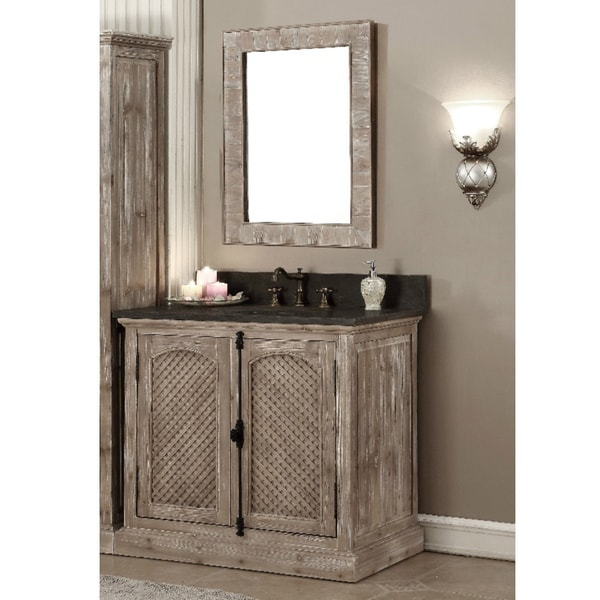 rustic style bathroom vanities shop rustic style 36 inch single sink driftwood finished 20298