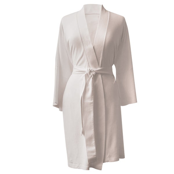 Rockwell 100-percent Organic Cotton Ivory Lighweight Bath Robe