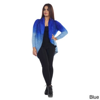 Women's Two-Tone Faux Fur Cardigan
