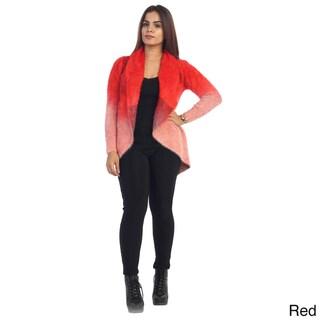 Women's Two-Tone Faux Fur Cardigan