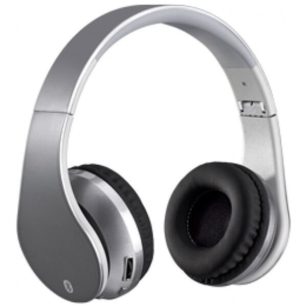 ilive iahb64s silver bluetooth wireless headphones free shipping on orders over 45. Black Bedroom Furniture Sets. Home Design Ideas