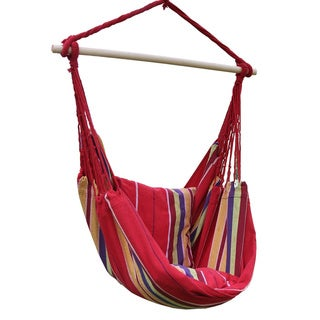Adeco Cotton Fabric Hanging Chair with Pillow and Butterfly Side