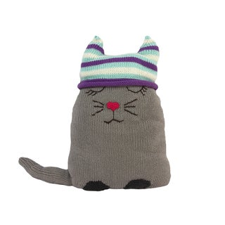 Cotton Cat Stuffed Animal/ Pillow (Peru)