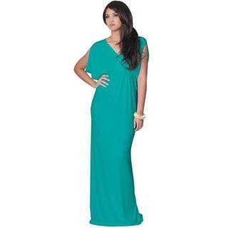 Koh Koh Women's Grecian Sleeveless Cocktail Maxi Dress