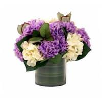 Purple and Cream Hydrangea Arrangement