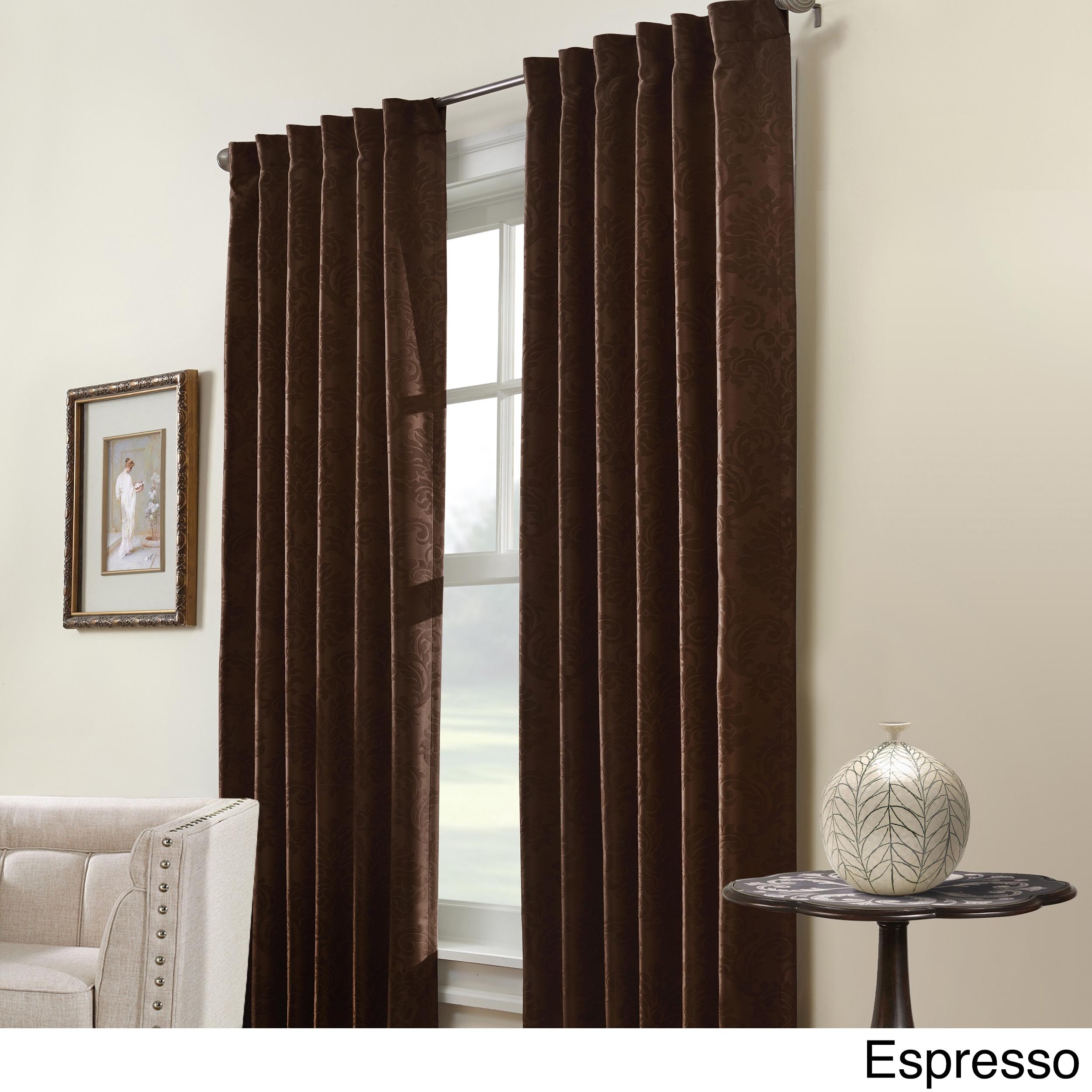 Belgique Insulated Curtain Panel (Espresso 95-Inch), Brow...