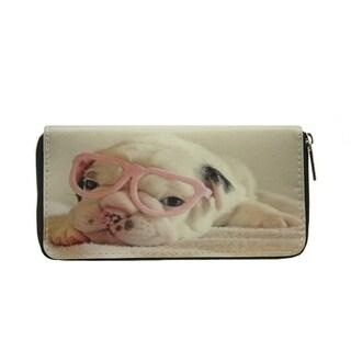 Pet Togo Puppy with Glasses Zip-around Wallet