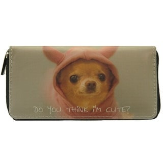 Pet Togo Puppy 'Do You Think I'm Cute' Zip-around Wallet