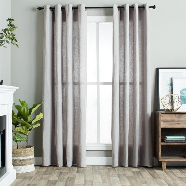 Julia M Fuller Vintage Washed Belgian Linen Curtain Panel Free Shipping Today