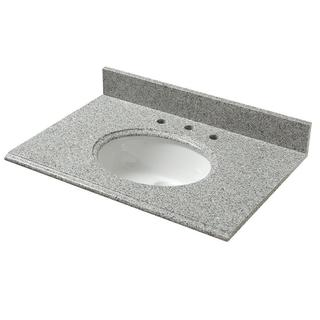 25-inch Granite Vanity Top in Napoli with White Basin