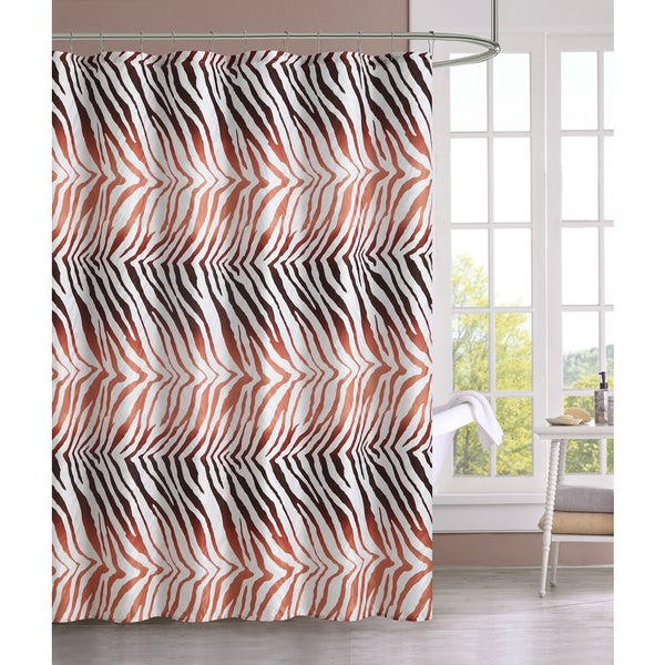 VCNY Ombre Zebra Shower Curtain