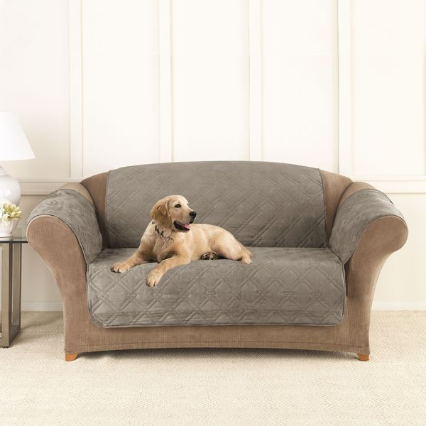 Sure Fit Microfiber Non-Slip Loveseat Pet Cover/Furniture
