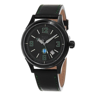 Ball Men's  'Fireman' Black Dial Black Leather Strap Santa Fe Limited Edition Swiss Automatic Watch