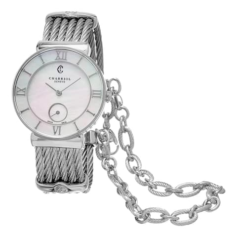 Charriol Women's ST30SI.560.008 'St Tropez' Mother of Pearl Dial Stainless Steel Swiss Quartz Watch