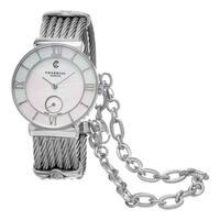 Charriol Women's  'St Tropez' Mother of Pearl Dial Stainless Steel Swiss Quartz Watch