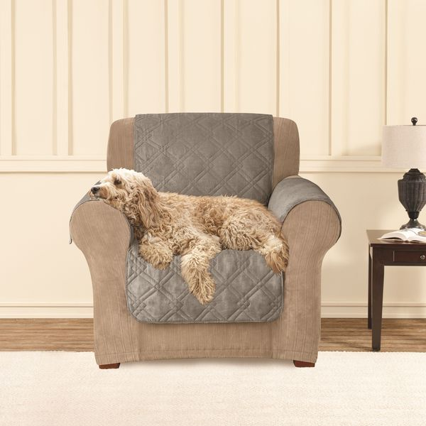 Sure Fit Microfiber Non Slip Chair Pet Cover Furniture