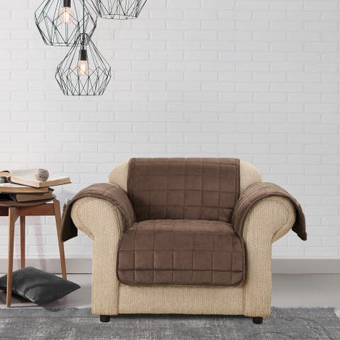 Sure Fit Microfiber Non-Slip Chair Pet Cover Furniture Protector
