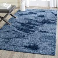Safavieh Retro Mid-Century Modern Abstract Light Blue/ Blue Rug (4' x 6')