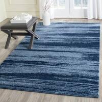 Safavieh Retro Modern Abstract Light Blue/ Blue Distressed Rug - 4' x 6'