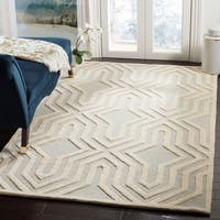 Safavieh Handmade Cambridge Grey/ Ivory Wool Rug - 4' x 6'