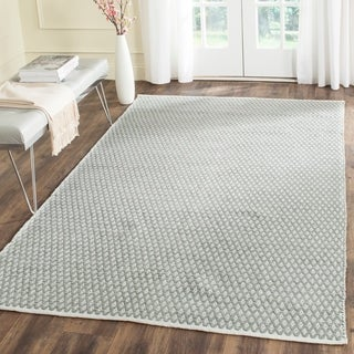 Safavieh Handmade Boston Flatweave Grey Cotton Rug (4' x 6')