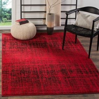 Safavieh Adirondack Modern Abstract Red/ Black Rug (4' x 6')