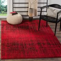 Safavieh Adirondack Modern Abstract Red/ Black Rug - 4' x 6'