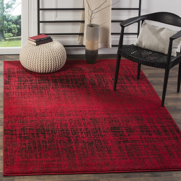 Safavieh Adirondack Modern Abstract Red Black Rug 4 X