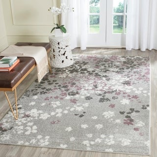 Safavieh Adirondack Vintage Floral Light Grey / Purple Rug (4' x 6')